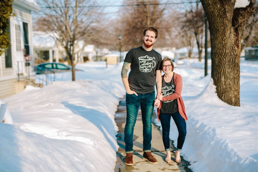 How Coffee & Hiking Inspired This Couple's Adoption Shirt