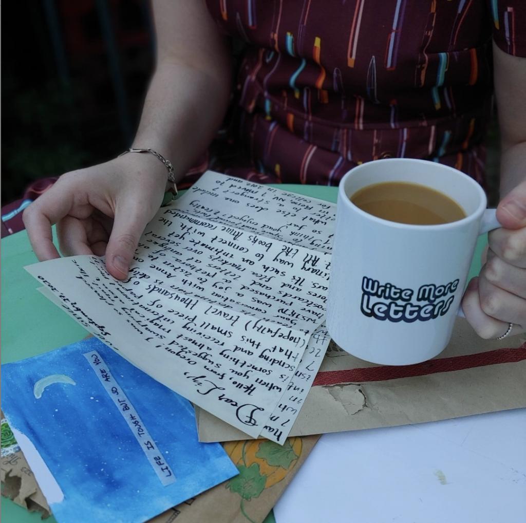 Flea Market Love Letters custom mug sold on Bonfire.com